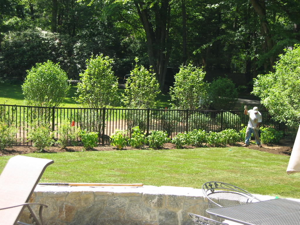 22 superb landscaping ideas around pool fence for Landscaping ideas with fences